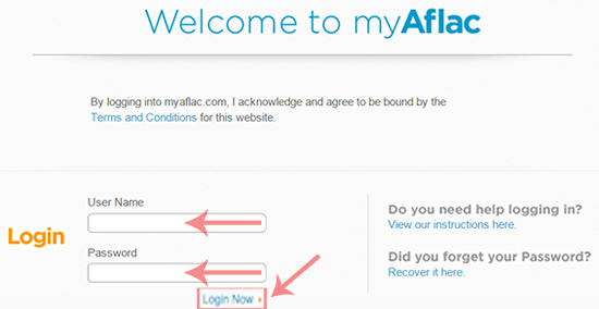 Aflac Login Step 2