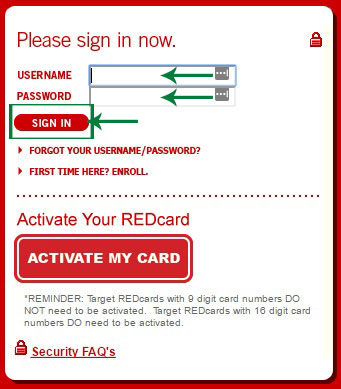 Target Red Card Login