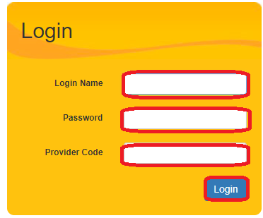 Therap Services login menu